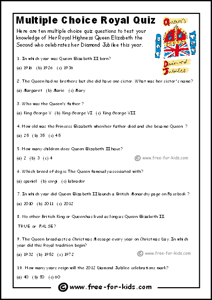 Printable Trivia Questions And Answers Multiple Choice