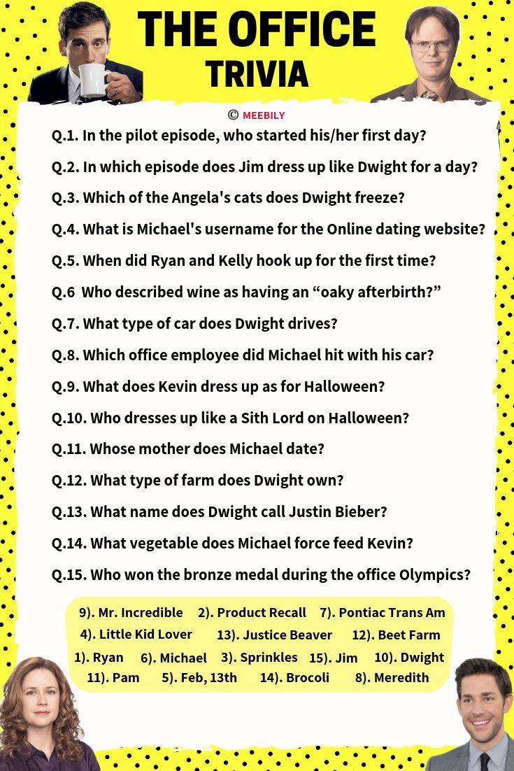 The Office Trivia Questions And Answers Printable