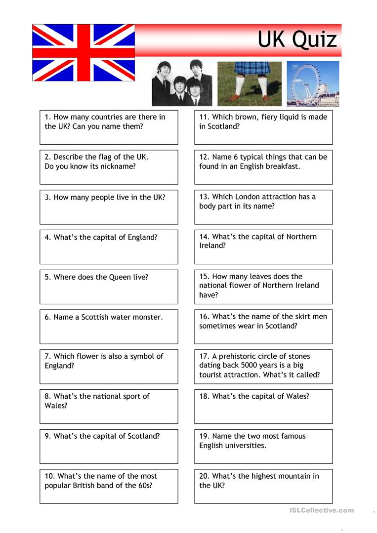 Free Printable Quiz Questions And Answers Uk